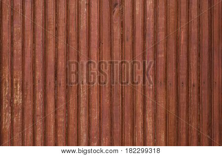 A fragment of the old brown wooden door with small nails. Texture.