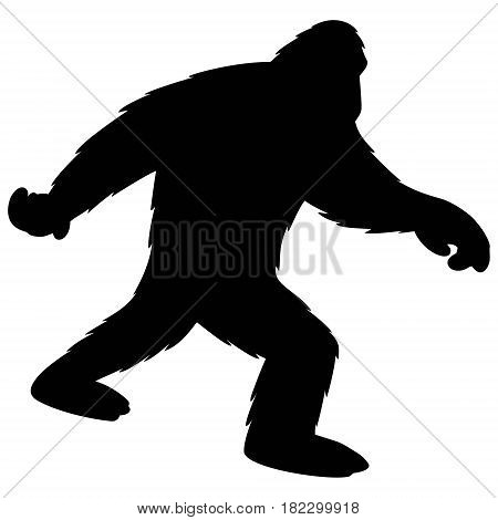A vector illustration of a Bigfoot silhouette.