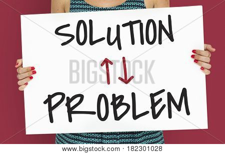 Problem Solution Arrow Up Down Word