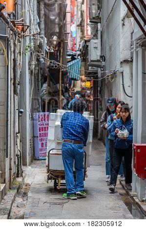 Backstreet In Kowloon, Hong Kong