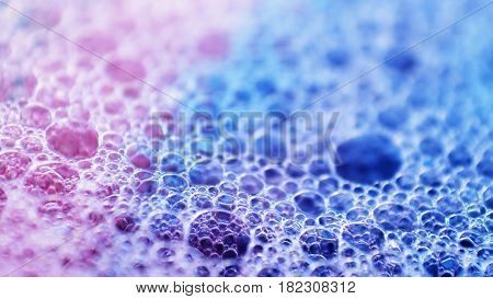 Bubbles soap as wallpaper / A soap bubble is an extremely thin film of soapy water enclosing air that forms a hollow sphere with an iridescent surface