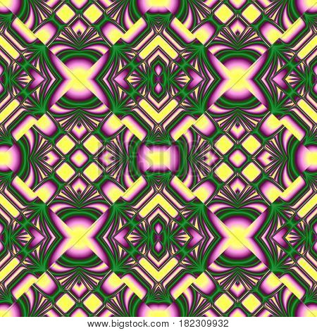 Yellow And Green Seamless Pattern