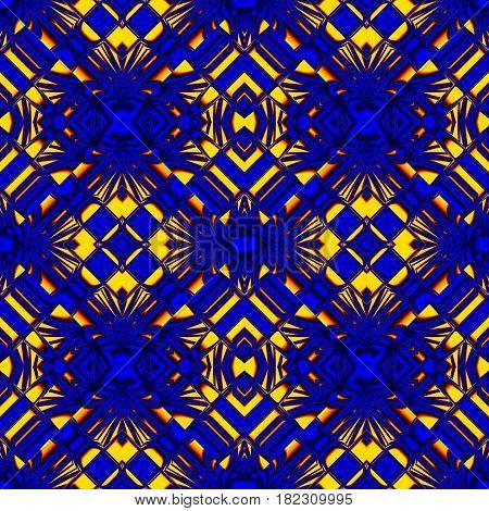 Fiery Blue Seamless Pattern