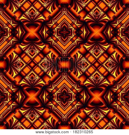 fiery red seamless pattern in hot colors stripes and wrinkles in the form of rhombuses