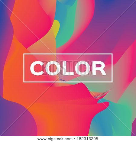 Abstract colorful poster. Wave shapes with space for text. Dynamic Effect. Vector design illustration. Modern Template.