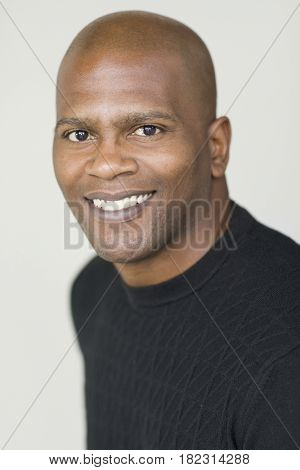 Close up of confident African man
