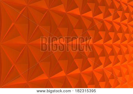 Pattern Of Orange Pyramid Shapes