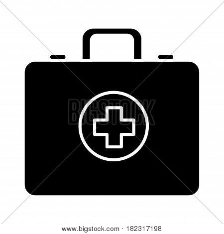 contour first aid kit emergency, vector illustration