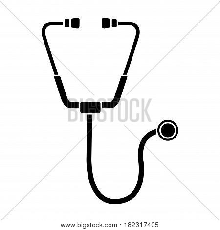 contour medical stethoscope tool revision heart, vector illustration