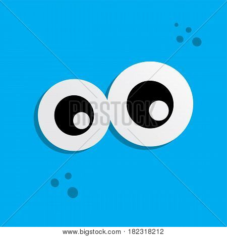 Cute Adorable Ugly Scarry Funny Mascot Monster Eye