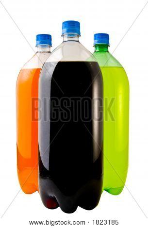 Three Soda Bottles