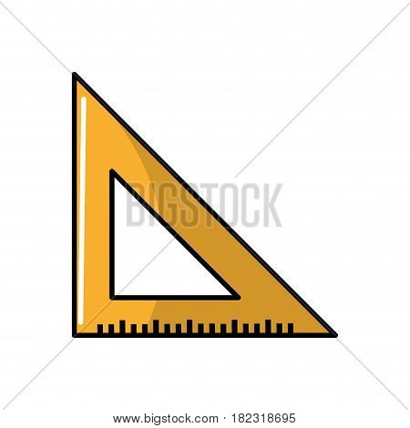 triangle ruler tool to study, vector illustration design