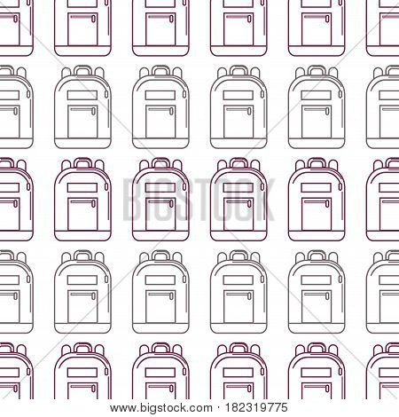 silhouette backpack tool to save thing and study background, vector illustration
