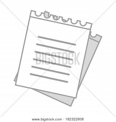 paper notebook study education knowledge, vector illustration