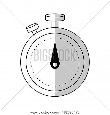 chronometer device icon over white background. vector illustration