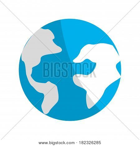 earth planet environment conservation icon, vector illustration design
