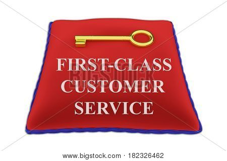 First-class Customer Service Concept