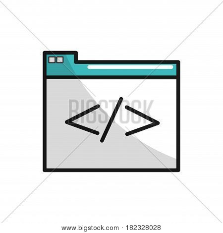 virtual folder with file documents saved, vector illustration