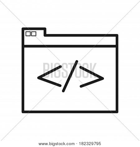 figure virtual folder with file documents saved, vector illustration