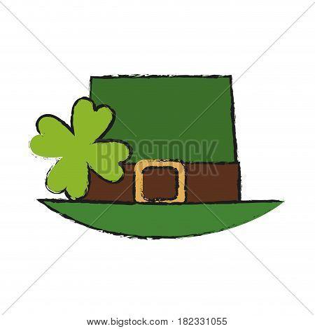 leprechaun top hat icon over white background. colorful design. vector illustration