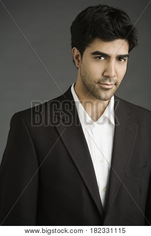 Middle Eastern businessman smiling