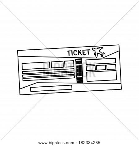 boarding pass or ticket icon image vector illustration design