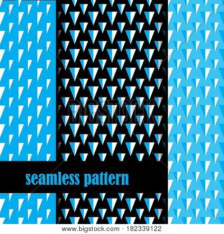set of seamless pattern with abstract triangle. vector