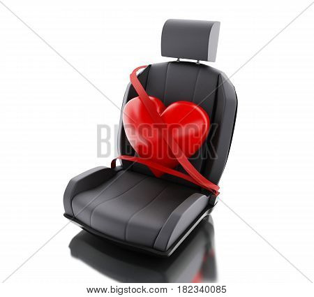 3D Heart With Auto Seat Belt