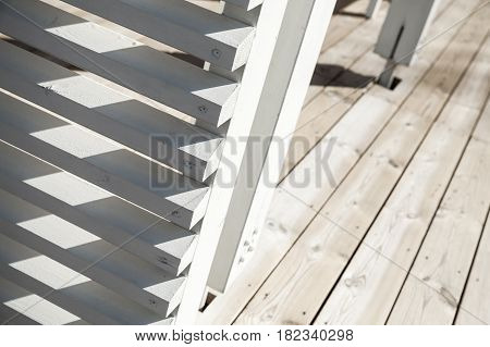 Abstract Wooden Architecture Fragment