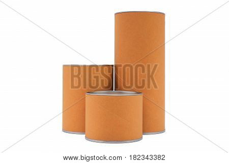 Cylinder container isolated on a white background.