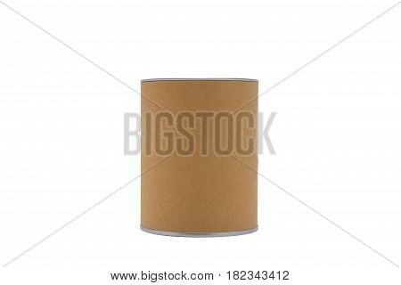 Cylinder container isolated on white background.For your product.( With clipping path.)