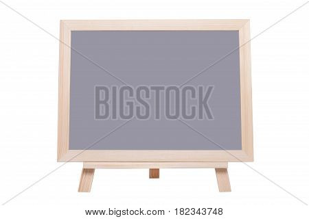 Blank gray board with picture frame stand isolated on white background.( With clipping path.)