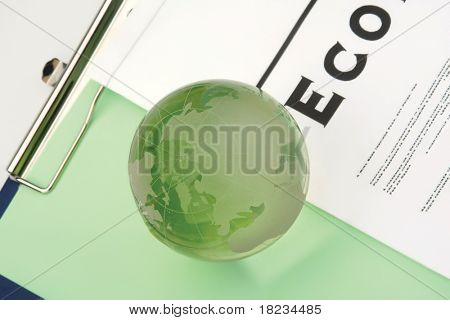 BLOG. Globe with different association terms.