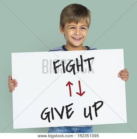 Antonyms Fight Give Up Arrows Graphics