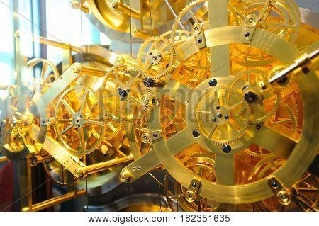 Denmark. Jensen olsen's clock mechanism. Gears wow