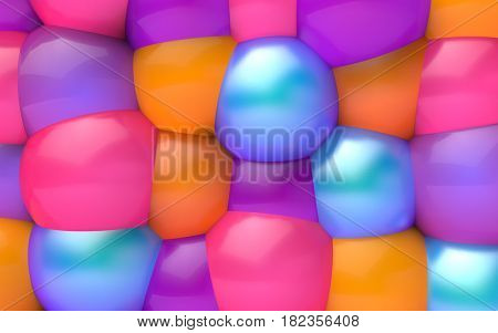 fun background of different color spheres