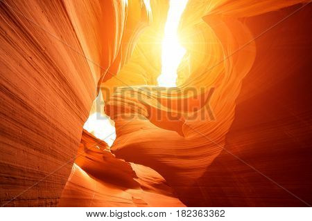Antelope Canyon Is A Slot Canyon In The American Southwest. It Is Located On Navajo Land East Of Pag