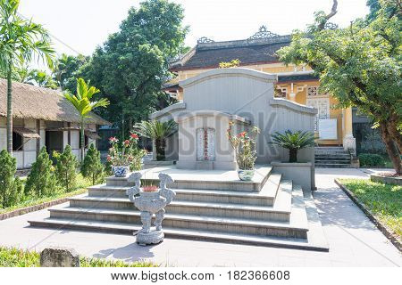 Hue, Vietnam - Jan 23 2015: Tomb Of Phan Boi Chau(1867-1940). He Was A Well-known Patriot, Theorist,