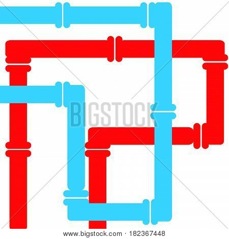 Conduit on white background. Vector illustartion. Eps10