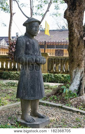 Hue, Vietnam - Jan 22 2015: Hue Museum Of Royal Fine Arts. A Famous Historical Site In Hue, Vietnam.