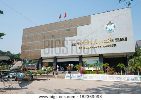 Ho Chi Minh City, Vietnam - Jan 27 2015: War Remnants Museum. A Famous Historical Museum In Ho Chi M