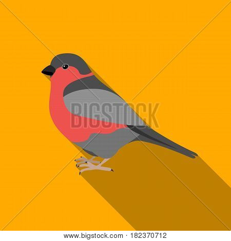 Bullfinch icon in flate style isolated on white background. Bird symbol vector illustration.