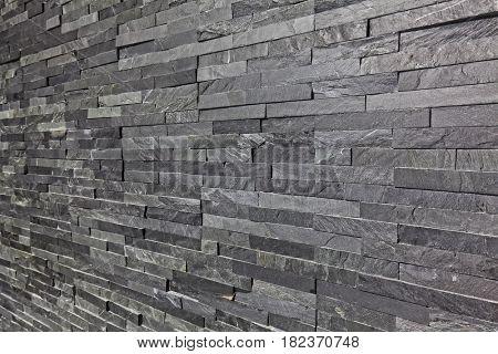 real slate brick interior wall background