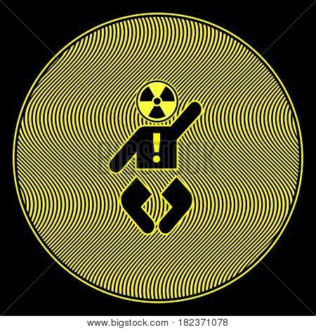 Baby exposed to Radiation. Concept sign to keep babies safe from electromagnetic frequencies