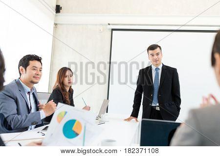 Businessman having presentation in the meeting