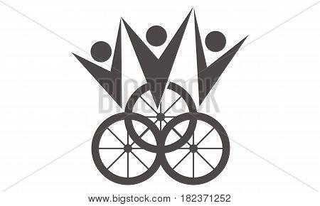 Bike Winner Sport Outdoor Logo Competition Atlete