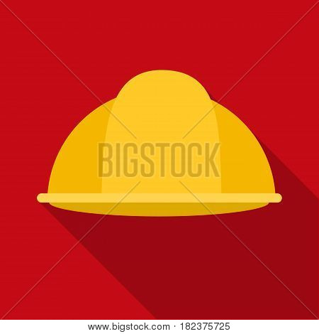 Construction helmet icon in flate style isolated on white background. Build and repair symbol vector illustration.