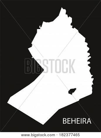 Beheira Egypt Map Black Inverted Silhouette Illustration