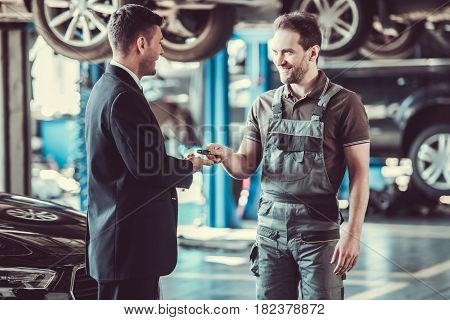 Handsome Mechanic And Businessman