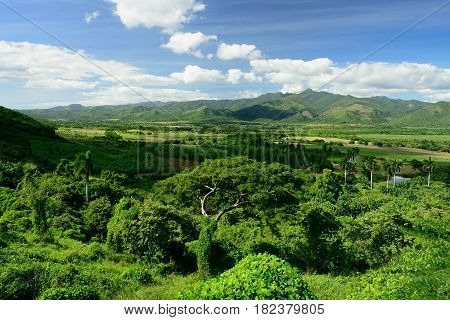 View on the Valle de los Ingenios valley on the sugar plantation